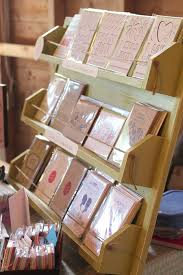 Wooden Greeting Card Display Stand Products Displays Creative Destiny Stationery Design 60