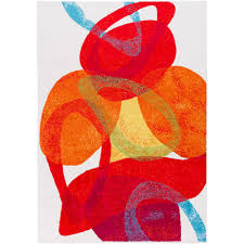 Surya Pippy Bright Red 5 Ft X 8 Indoor Area Rug