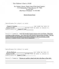 029 Fake Doctors Note Templates For School Work With Regard