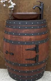 storage oak wine barrels. Fine Oak Amazoncom French Oak Wine Barrel Bathroom Vanity Cabinet With Hammered  Copper Sink And  Intended Storage Barrels O