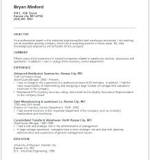 Generic Objective For Resume Warehouse Resumes Distribution Manager Sample Resume Supervisor 77