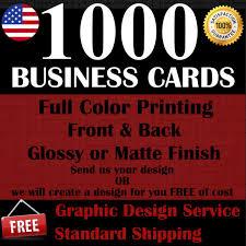 Buy 1000 Custom Full Color Business Cards Design Online Ebay