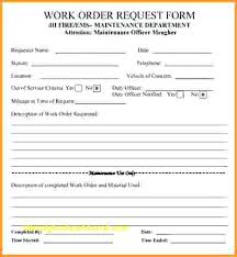 Maintenance Work Order Form Awesome 48 Sample Repair Forms Templates Maintenance Form Free Printable Work