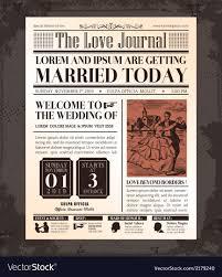 Vintage Newspaper Wedding Invitation Template