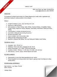 Exciting Sample Resume For Experienced Software Tester 95 For Your Free  Online Resume Builder With Sample