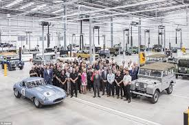each of the 25 cars will be hand built by jaguar s specialist classic works division