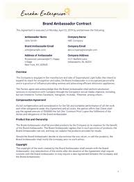 brand ambador contract template