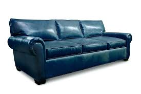 roosevelt reclining sofa roll arm leather sofa in navy roosevelt reclining couch
