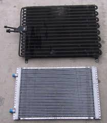most of the automotive ac condensers i come across and can get ly are of the parallel flow design however i am able to get both