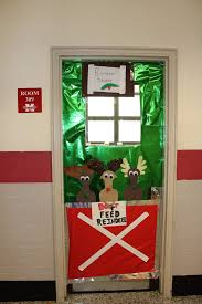 christmas classroom door decorations. Reindeer Stable Classroom Door Decoration For Christmas Decorations S