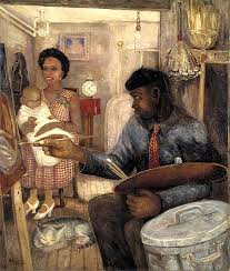 the janitor who paints c 1930 by palmer hayden from art in