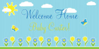 Welcome Home Baby Boy Banner Baby Banner Design Templates