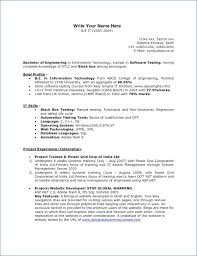 1 Year Experience Resume Format For Manual Testing Igniteresumes Com