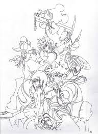 Small Picture Kingdom Hearts Coloring Pages akmame