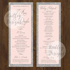 sample wedding ceremony program hadley designs programs