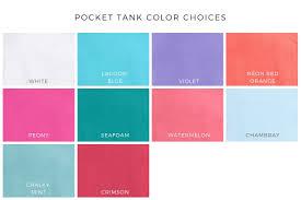 Monogrammed Comfort Colors Pocket Tank Saltwater Prep