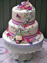 Butterfly Flowers Pastel Wedding Cake Wedding Cakes Juxtapost