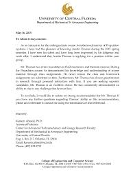 Letter Of Recommendation Mechanical Engineering Dr Ahmed Letter Of Recommendation