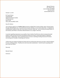 Cover Letters Letter Formaternship Application Best Certificate