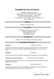Modelos De Resume Formatos De Curriculum Simples Enderrealtyparkco 4