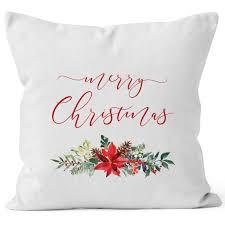 Kissenbezug Weihnachten Merry Christmas Blumen