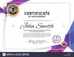 Official White Certificate With Blue Triangles And Education Design