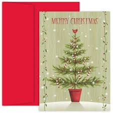 Design Holiday Cards Online 18ct Country Tree Cards Canopy Street Multi Colored