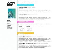 Free Colorful Resume Templates Template Cv Form Template Amazing Curriculum Vitae Free Resume 100