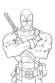 Online Deadpool Coloring Page Free To Print Superheroes Coloring