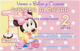 Free Minnie Mouse Birthday Invitations Disney Baby Minnie Mouse Birthday Free Invitations