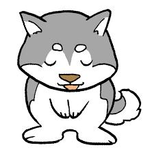 犬お辞儀のイラスト かわいいフリー素材が無料のイラストレイン
