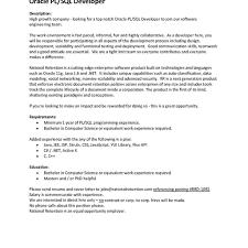 Oracle Dba Resume Examples Printable Resume Format