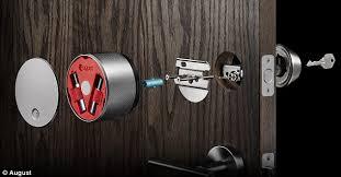 smart front door locksAugust smart lock lets you open the front door with your mobile