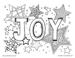 Small Picture Joy Holiday Coloring Page Stress relief Holidays and Adult