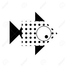 ベクトルには会社のためのイラストや矢印のデザインの形で魚のアイコンが様式化されました