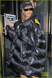 rihanna wears puffy over sized coat for ping in london photo 3738037 rihanna pictures just jared