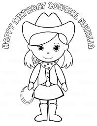 Cute Cowgirl Coloring Pages Get Coloring Pages