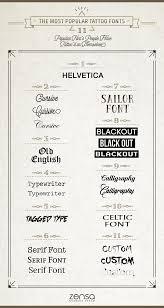 Fonts For Tattoos Tattoo Font Bible