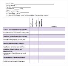 Evaluation Chart Sample Program Evaluation Template Kozen Jasonkellyphoto Co