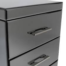 smoked mirrored furniture. Bentley-Home-Smoked-Mirrored-Furniture-Bedside-Table-3 Smoked Mirrored Furniture