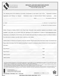 Lease Agreement In Pdf Stunning Free California Megans Law Database Disclosure Form PDF 48KB