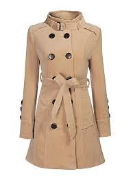 women winter coat double ted wool long trench coat size s xl