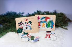 Cut And Paint A Colorful Snowmen Puzzle Scroll Saw