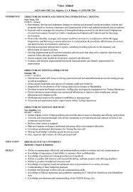 Director Testing Resume Samples Velvet Jobs