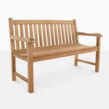 garden teak outdoor bench for two