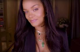 rihanna shares fenty beauty inspiration in dewy diamond makeup tutorial