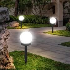 <b>3pcs 5W LED</b> Solar Round Bulb Lawn Lamps IP65 Yard Landscape ...