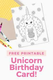 Learn colors in a fun way with these printable flashcards for kids these color flashcards come in 3 sets and can be used for young to advanced learners of english. Printable Unicorn Birthday Card Design Eat Repeat