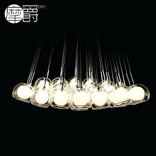 get ations a led chandelier bedroom creative color bubble double cover half egg eggs meal office glass bubble chandelier