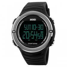 skmei 1209 men s digital sports pu band wrist watch black skmei 1209 men s digital sports pu band wrist watch black